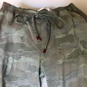 Anthropologie camouflage drawstring pants